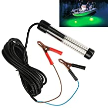 AOTOSOLO 12V 180 LED 900 Lumens Green Blue Underwater Lure Bait Finder Night Fishing Boat Attracts Submersible Deep Drop Fish Squid Light