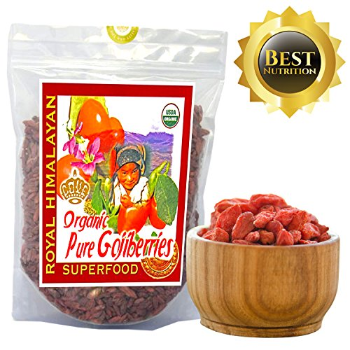 Top Nutrition   14 Ounce   Royal Himalayan Raw Goji Berries   Certified Organic   Smoothies  Snacks  Salads  Trail Mixes