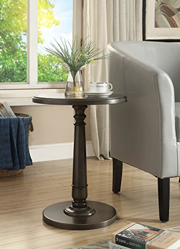 Haley Accent Table in Brushed Gray