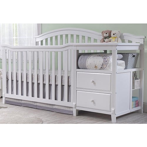 Sorelle Berkley 4 in 1 Crib and Changer, White (White 4 In 1 Baby Crib)