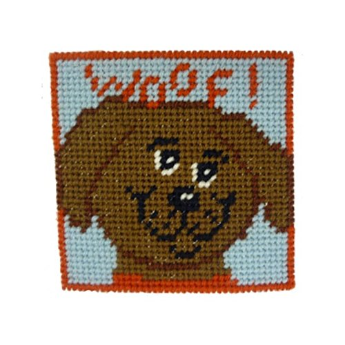 Woof! Doggy Kid's and Beginners Needlepoint kit Fun Mini Needlepoint Kit