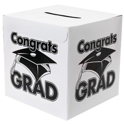 White Congrats Money Graduation Party