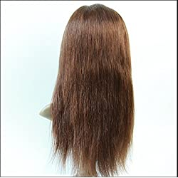 """2017 Popular 18"""" Natural Hair Wigs Full Lace wigs Peruvian Virgin Remy Human Hair Natural Straight Color #4 Light Brown"""