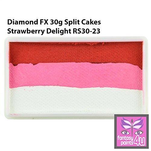 Diamond FX 30g Split Cake/One Stroke Face Paint ~ Strawberry Delight (RS30-23) by Diamond FX Split Cakes