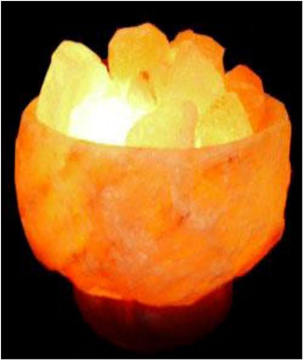 LAMPADE BRACIERE IN LEGNO AI CRISTALLI DI SALE in quattro diverse varianti