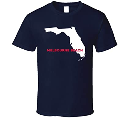 Map Of Melbourne Beach Florida.Amazon Com Melbourne Beach Florida City Map Usa Pride T Shirt Clothing
