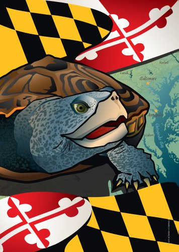 Citizen Pride Maryland Terrapin Large House Flag by Joe Barsin, 28×40 For Sale