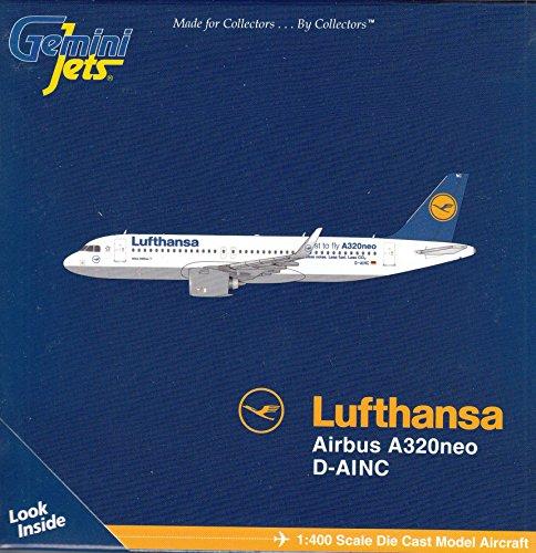 Gemgj1610 1 400 Gemini Jets Lufthansa Airbus A320neo Reg  D Ainc  Pre Painted Pre Built