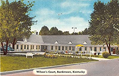 Bardstown Kentucky street scene of Wilson's Court linen antique postcard Y2922