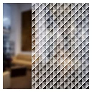 BDF 4WHTR Decorative Window Film White Triangle (48 in X 7ft)