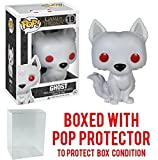 Funko Pop! Game of Thrones: Ghost - Dire Wolf Vinyl Figure (Bundled with Pop BOX PROTECTOR CASE)