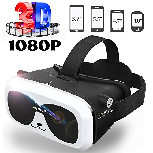SEALEGEND-VR-Headset-for-3D-VideosGames-Adjustable-FocusHead-Straps-Soft-Cushion-Lighter-for-Kids-Adults-with-Earphone-Slots-Fit-40-60in-iPhone-Android-Virtual-Reality-Headset-VR-Goggles-VR-Box