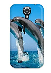 New Style Awesome Bottlenose Dolphins Flip Case With Fashion Design For Galaxy S4 9929161K67497261