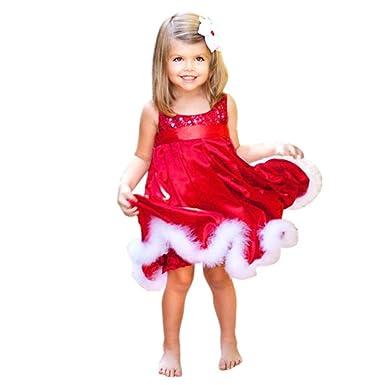 Amlaiworld Princesa Vestido de Navidad de niñas Bebé Trajes de Navidad Vestir