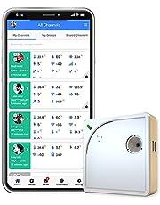 Ubibot WS1 wifi temperatuur vochtigheid monitor, draadloze thermometer hygrometer, wifi data logger met gratis app alarm, koelkast temperatuur, android/iOS app (2.4GHz wifi alleen, IFTTT)