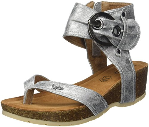 Les P'tites Bombes Women's Kelly Open Toe Sandals Silver (Argent) Up4m9aw