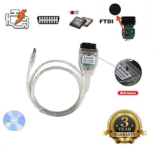 AntiBreak INPA K+ CAN Ediabas cable with switch DCAN Interface coding Support E serials Interface for BMW R56 E87 E93 (Engine Interface Cable)