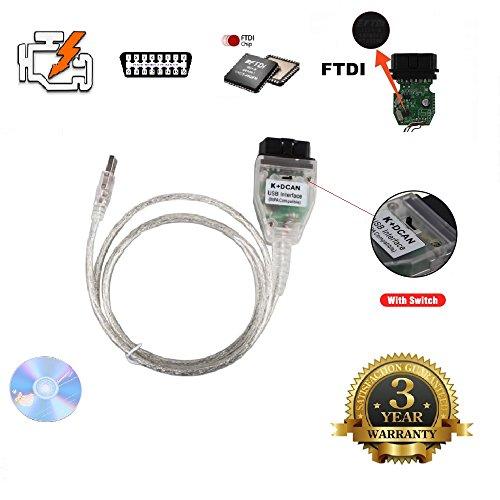 AntiBreak INPA K+ CAN Ediabas Cable with Switch DCAN Interface Coding Support E serials Interface for R56 E87 E93 E70 (Inpa K+dcan Usb Interface)