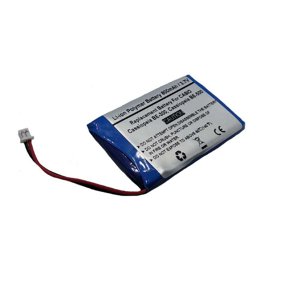 800mAh/3.7V Replacement Battery for CASIO Cassiopeia BE-300, Cassiopeia BE-500, CASIO CGA-1-105A by Starnovo (Image #2)