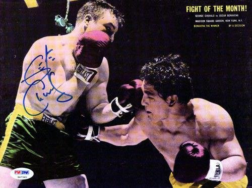 George Chuvalo Authentic Autographed Signed Magazine Page Photo S47345 PSA/DNA Certified Autographed Boxing Magazines
