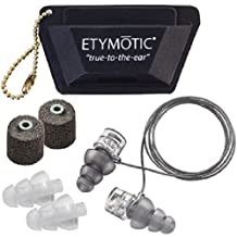 Etymotic High-Fidelity Earplugs, ER20XS Universal Fit Hearing Protection