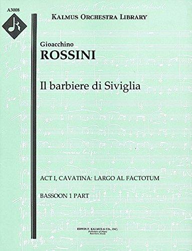 Il barbiere di Siviglia (Act I, Cavatina: Largo al factotum): Bassoon 1 and 2 parts (Qty 2 each) [A3008]