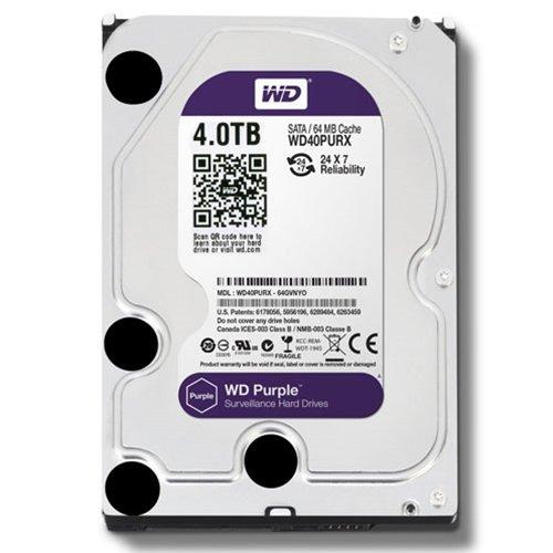 WD Purple 4TB Surveillance Hard Disk Drive - 5400 RPM Class SATA 6 Gb/s 64MB Cache 3.5 Inch - WD40PURZ [Old Version]