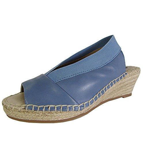 (Steven Womens Indiggoo Wedge Sandal Shoes, Blue Leather, US 6 )