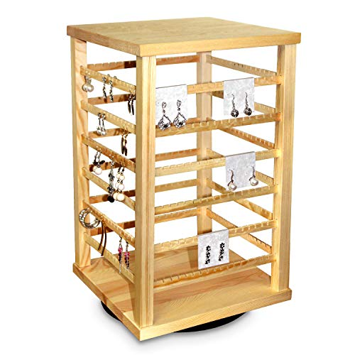 Jewelry Spinning Studs (Ikee Design Jewelry & Earring Organizer/Spinning Jewelry Organizer for Hanging 192 pairs of Earrings/Hanger Display Stand Rack)