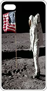 taoyix diy Astronaut Planting American Flag On Moon Surface White Plastic Case for Apple iPhone 6 Plus