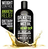Keto MCT Oil With Hemp Extract. Triple Filtered and Cold Pressed C8