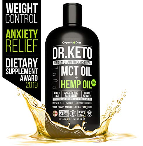 Organic Diet Keto MCT Oil With Hemp Extract. Triple Filtered and Cold Pressed C8 and C10 MCT Coconut Oil. Paleo and Vegan Friendly. Diet Stress Relief by Organic Hemp Oil. Made in USA.