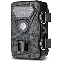 Famirosa Trail Camera LCD 12MP 1080P Full HD Game & Hunting Camera with 30pcs 940nm IR LEDs Night Vision Up to 65ft/20m IP66 Waterproof 0.4s Trigger Speed for Wildlife Observation and Security