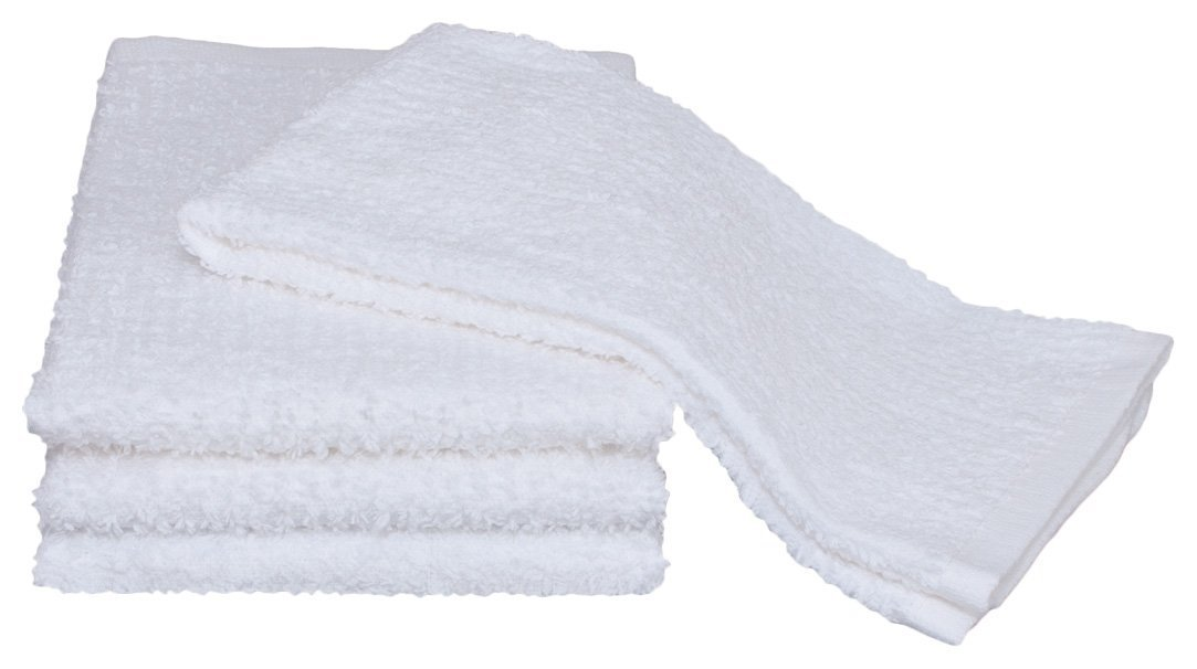Atlas Towels Kitchen Bar Mop Cleaning ECONOMY Towels, 48 Pack, 16x19'', White Cotton Kitchen Towels, Bulk Barmops, for Resaturant & General Cleaning, Shop Towels and Rags, Eco-Friendly