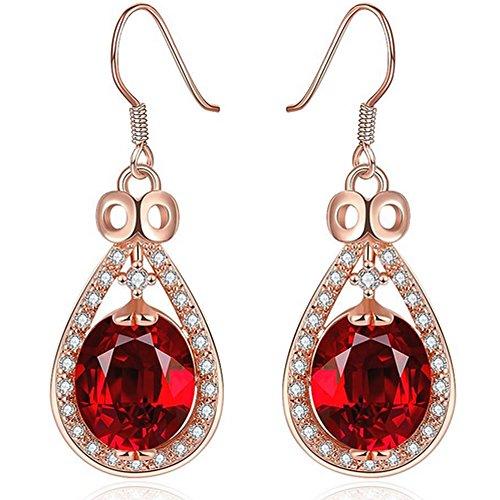 gemstone earrings_ wedding jewelry bride bridal earrings gifts_ruby earrings_gold earrings