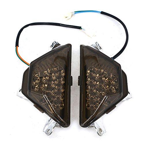 Front Turn Signals Blinker Light Lamp Indicator For KAWASAKI NINJA 300R EX300 2013-2014 Black: