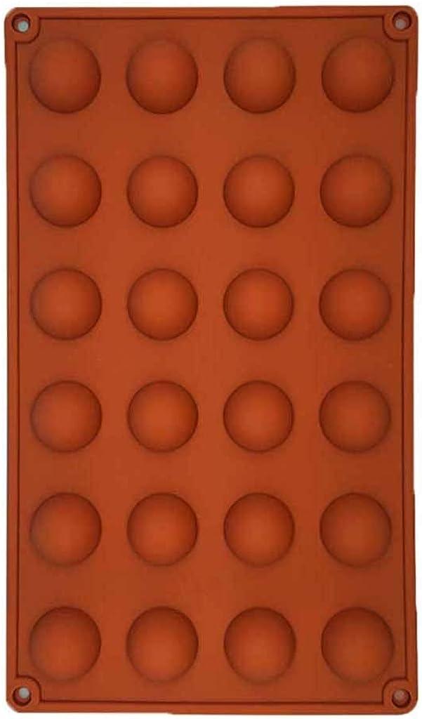 marron 3 Hunpta@ Lot de 3 moules /à g/âteaux en silicone en forme de demi-sph/ère