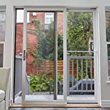 Ideal Security SK110 Patio Door Security Bar with Child-Proof Lock, Adjustable 25-48 inches for Ventilation, White