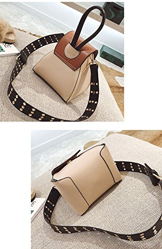 PU Knödel Paket Schulter Messenger Bag Dreieck Taschen Tote Einfache Multi Purpose Bucket Bag HQ.ADIER Black Fxqz1jy7M