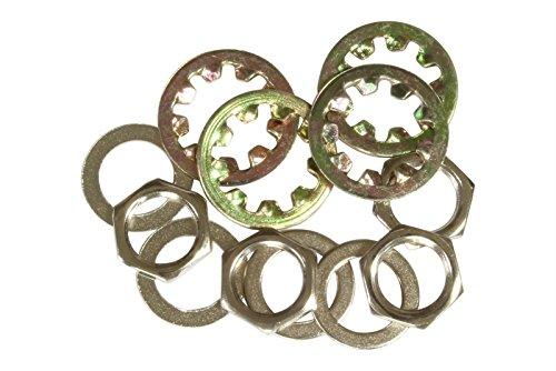 bangdan Locking Washer and Metric M9 Nut, Washer for Import guitar Output Jacks, nickel