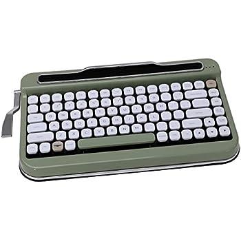 Penna Bluetooth Keyboard with White Diamond Shape Keycap(US Language) (Switch-Cherry Mx Blue, Olive Green)