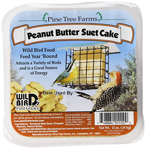 6 Pack Pine Tree Farms Peanut Butter Suet Cake Wild Bird Food 12 -