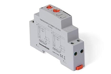 Schema Elettrico Per Temporizzatore : Temporizzatore luce scale elettronico 16a tecno switch cod. ts101di