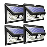 Mpow 40 LED Solar Lights Motion Sensor Bright Wall Light, 3 Optional Lighting Modes, Large Solar Panel Weatherproof, Great Outdoor Light for Garden, Driveway, Yard, Pathway and Patio, Pack of 4