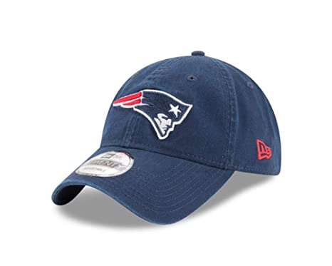 Amazon.com  New Era Men s New England Patriots 9TWENTY Core Navy Hat ... eb73a2ee4eb2
