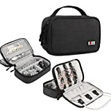 BUBM Small Travel Jewelry Case Accessories Holder Organizer Storage Carrying Pouch(Black)