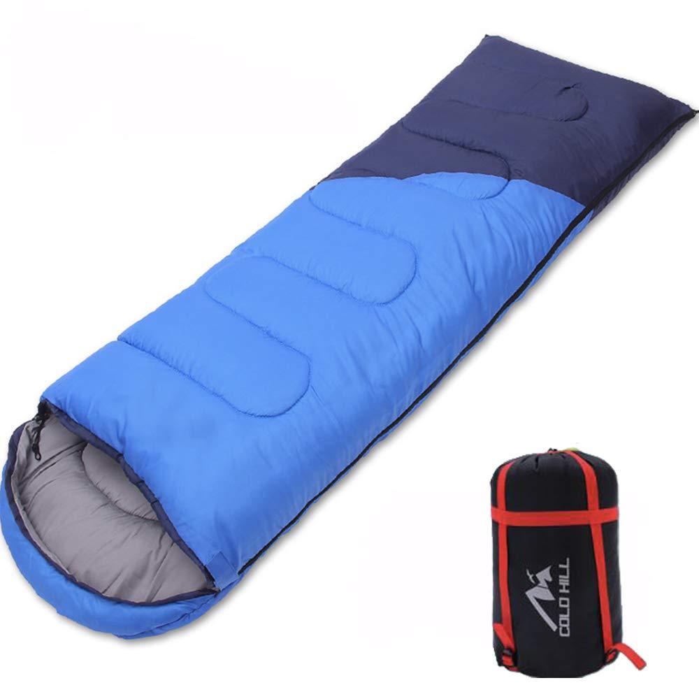 1.1kg LOY Camping Schlafsack - Tragbarer wasserdichter Blauer Backpacking Schlafsack für 4-Jahreszeiten-Schlafsäcke(Erwachsene & Kinder)
