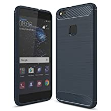 Huawei P10 Lite Case, FoneExpert® Texture Carbon Fiber Soft Silicon TPU Resistant Shockproof Brushed Back Case Cover For Huawei P10 Lite