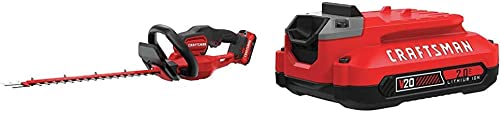 CRAFTSMAN CMCHTS820D1 V20 22 Cordless Hedge Trimmer with CMCB202 20V MAX 2.0 LI-ION Battery