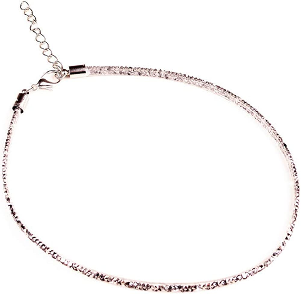 Dana Carrie Women jewelry Necklace Crystal Clavicle Chain Short Neck Jewelry Necklace